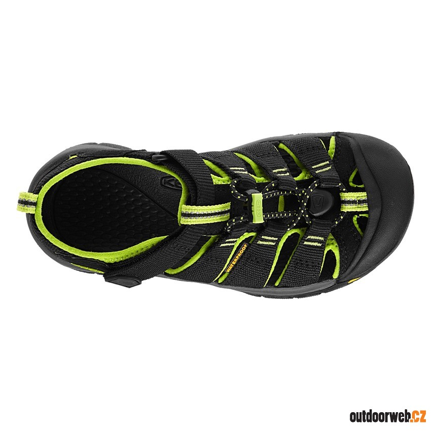 Newport H2 Jr, black/lime green
