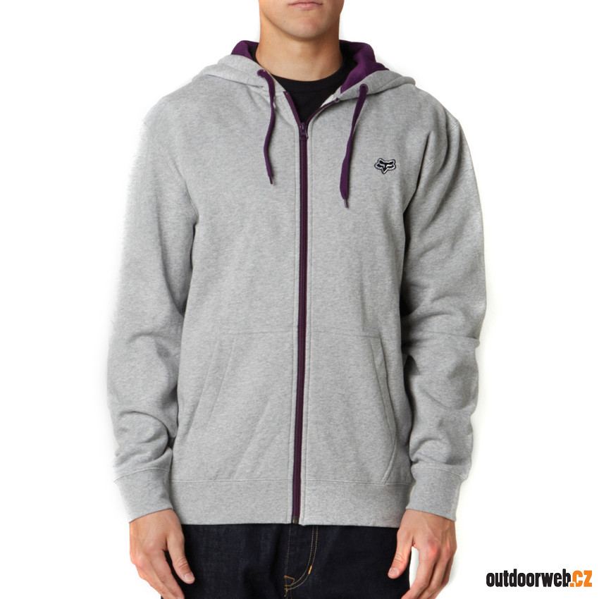 Mr. Clean Zip Front Fleece Heather Grey - pánská mikina - FOX ... 8fb2676c49