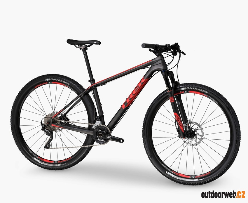 Superfly 9.6 Matte Trek Carbon Smoke / Viper Red - odpružené horské kolo