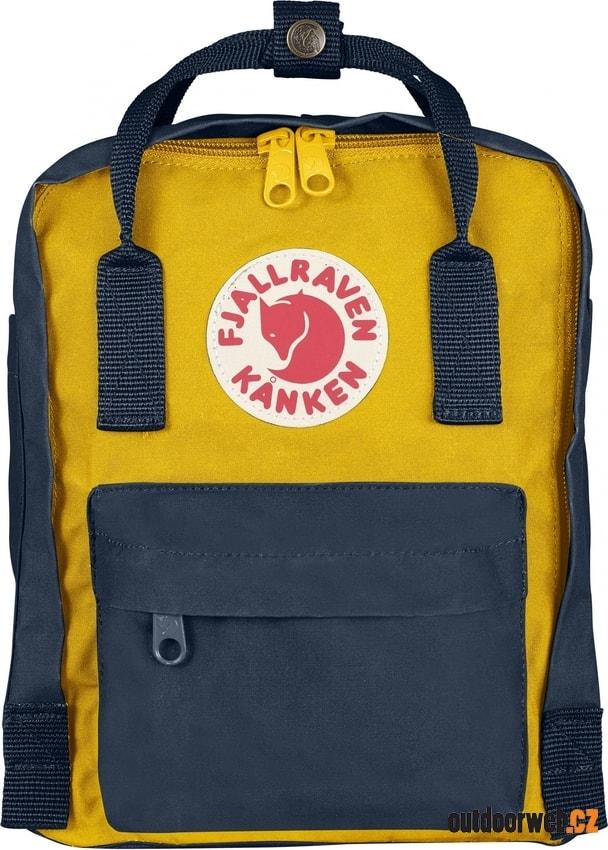 Kanken Mini navy-warm yellow 7l - batoh - FJÄLLRÄVEN - turistické ... b95b140c22