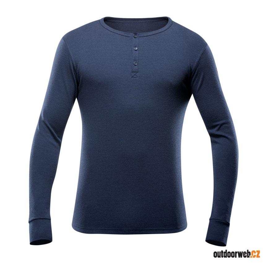 148-242 284 Nature Man Button - pánské triko - DEVOLD - pánské ... 41f83c754f