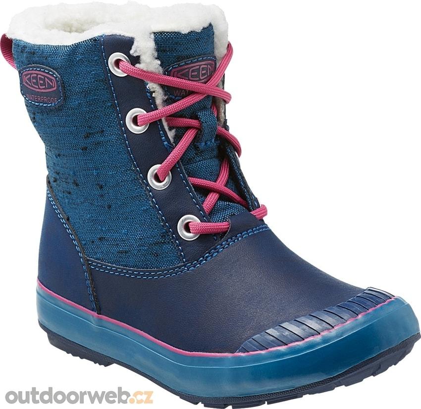 12663625215 ELSA BOOT WP JR blue berry - dětské zimní boty akce - KEEN - dětské ...