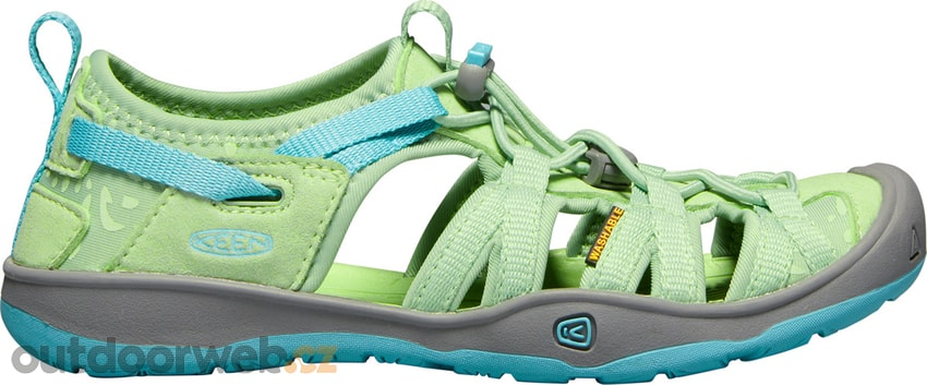 MOXIE SANDAL JR, quiet green/aqua sea