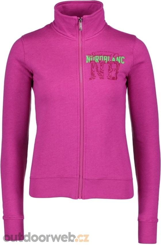 b2493bd6248 NBFLS5963 LEVEL tmavě růžová - dámská mikina - NORDBLANC - dámské ...