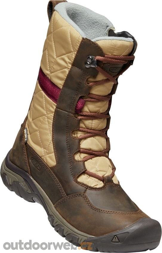 684834e0624 HOODOO III TALL W dark earth beaujolais - KEEN - dámské - zimní boty ...