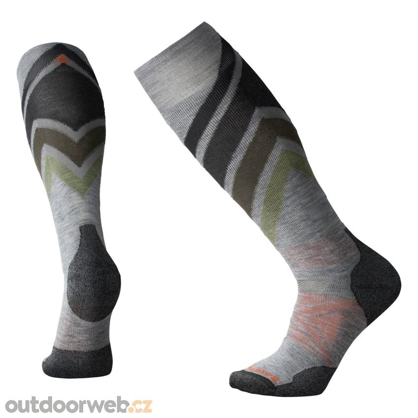 PHD SKI MEDIUM PATTERN light gray - SMARTWOOL - ponožky - Lyžování ... 61de39205f