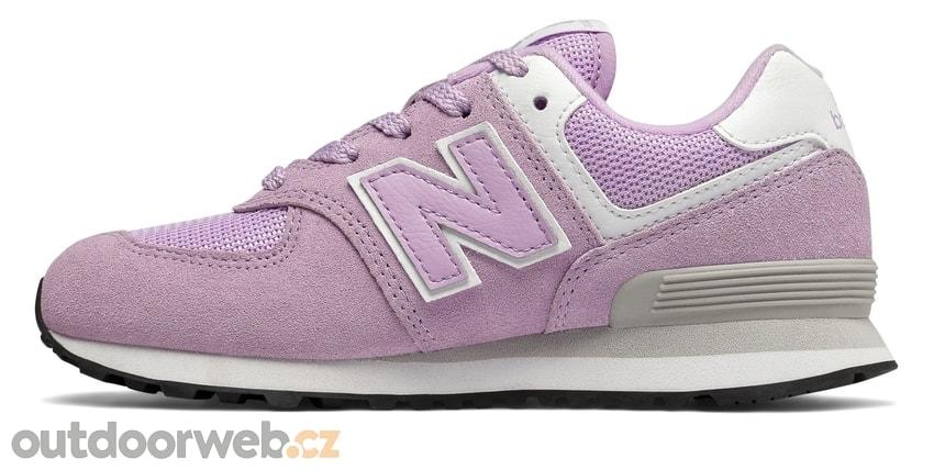 GC574EM fialové - NEW BALANCE - dětské - tenisky 77c3424459