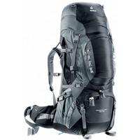 Aircontact PRO 70 + 15 - turistický batoh černý turistický batoh černý