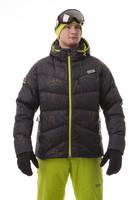 NBWJM4509 GRA BURNT - pánská péřová bunda pánská péřová bunda