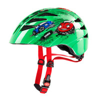 KID 1 cars - dětská helma zelená dětská helma zelená