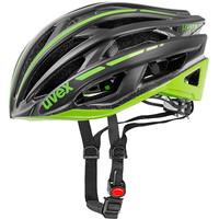 RACE 5 black mat green - silniční helma černá silniční helma černá