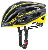 RACE 5 black mat/yellow - silniční helma černá silniční helma černá