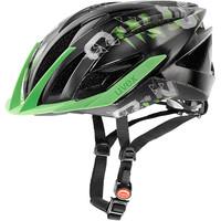 ULTRA SNC black green mat shiny - xc helma černá xc helma černá