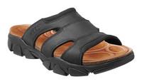 Daytona Slide M, black - pánské kožené pantofle pánské kožené pantofle