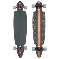 Pinner Drop Through Brown/Leaves - longboard