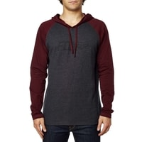 Diskors Hooded Ls Knit Heather Burgundy - triko