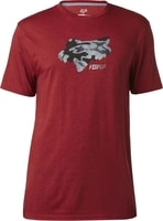 Stenciled Ss Tech Tee, heather red