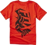 Youth Salut Ss Tee, flame red