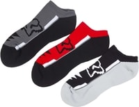 Perf No Show Socks - 3 Pack Flame Red