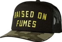 Raised On Fumes Snapback Black Vintage