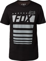 Red, White & True SS Tech Tee Black