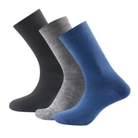 Daily Light Sock 3pk Indigo mix