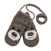 Bear Baby Mitten brown