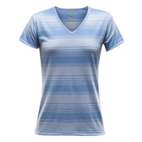 Breeze Woman T-Shirt V-Neck cash stripe