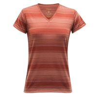 Breeze Woman T-Shirt V-Neck mecca stripe