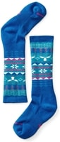 GIRLS WINTERSPORT FAIRISLE MOOSE, bright blue