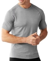 M MERINO 150 BASELAYER PATTERN SS, light gray