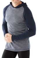 M MERINO 250 BASELAYER PATTERN HOODY, deep navy