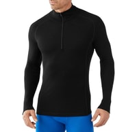 M MERINO 200 BASELAYER ZIP T, black