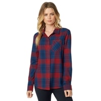 It LS Flannel, dark red