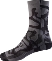 "Womens 8"" Print Sock, shadow"