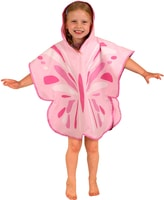Animal Poncho Towel, butterfly medium