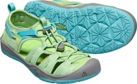 MOXIE SANDAL JR quiet green/aqua sea