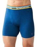 M MERINO 150 PATTERN BOXER BRIEF dark blue