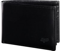 Bifold Leather Wallet, black