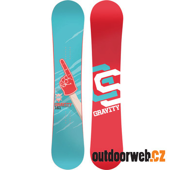 TEAM blue/red - snowboard v ROCKER variantě