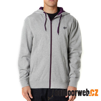 Mr. Clean Zip Front Fleece Heather Grey - pánská mikina