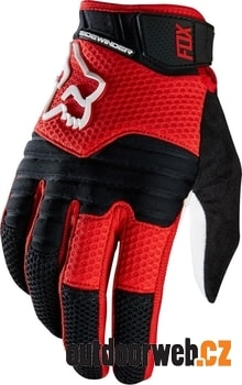 13221-054 SIDEWINDER Red/white - MTB rukavice
