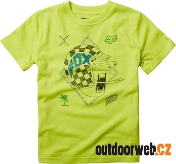 16362-130 KIDS OFF CENTER Flo Yellow  - tričko KID'S