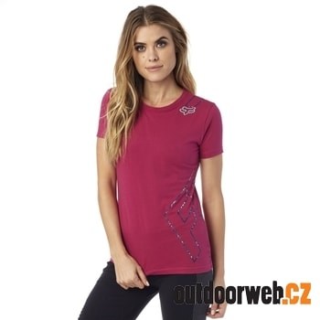 Cornered Crew Ss Tee Burgundy - tričko